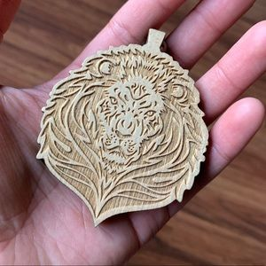Other - Wood Lion Necklace